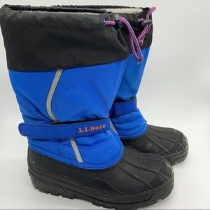 L.L.Bean winter snow boots, youth boys 5.